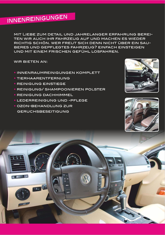 TM-Fahrzeugpflege - Neuer Flyer
