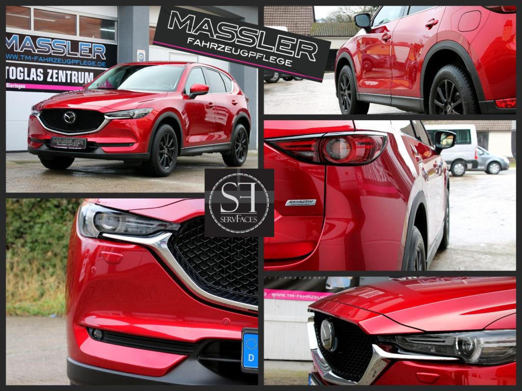 Fahrzeuglack mit einer Schicht servFaces Ultima und einer Schicht servFaces Final versiegelt - MAZDA CX5 - TM-Fahrzeugpflege